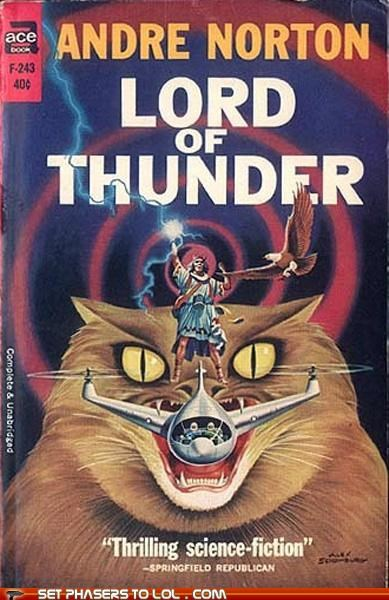 books,Cats,cover art,science fiction,thunder,wtf