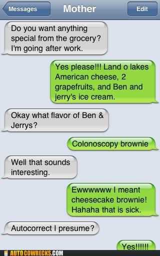 autocorrect,ben-and-jerrys,cheesecake,colonoscopy,flavor,ice cream