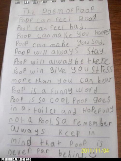 education gross Hall of Fame Parenting Fail poem poetry poop school weird - 5407198208