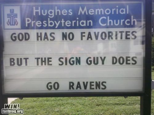 Church Sign favorites football religion sign sports - 5407217408