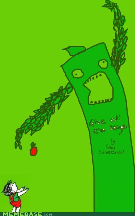 all the things,apple,books,giving tree,morals,shel silverstein,tree