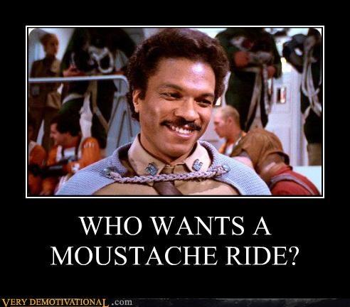 Lando Calrissian mustache rides Pure Awesome star wars - 5407333888