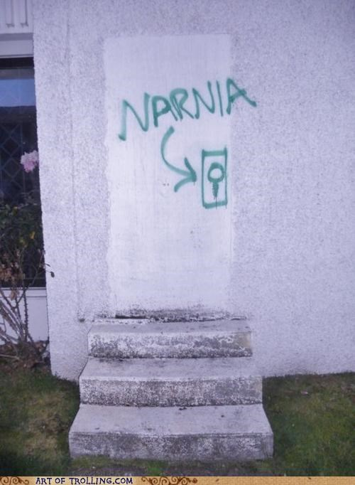 door IRL narnia wall