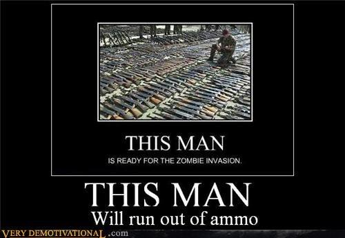 ammo guns hilarious zombie apocalypse - 5407535104
