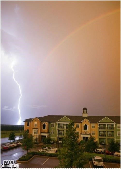 lightning,mother nature ftw,nature,rainbow,storm