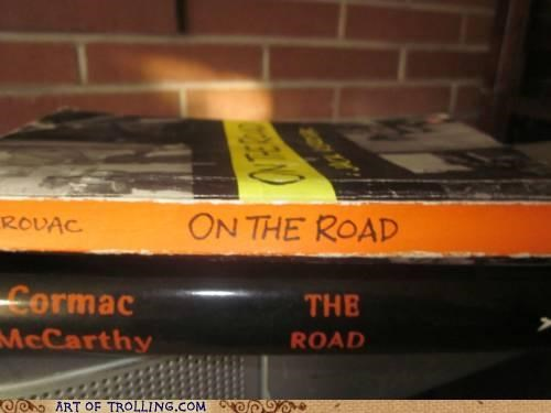 books,IRL,on the road,placement,the road