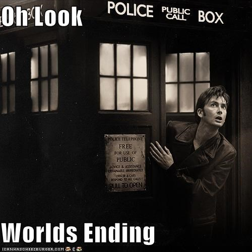 David Tennant,doctor who,end of the world,look,tardis,the doctor