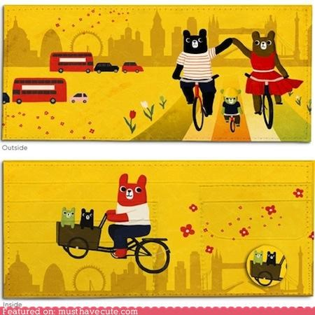 bears,bikes,London,Poketo,wallet,yellow