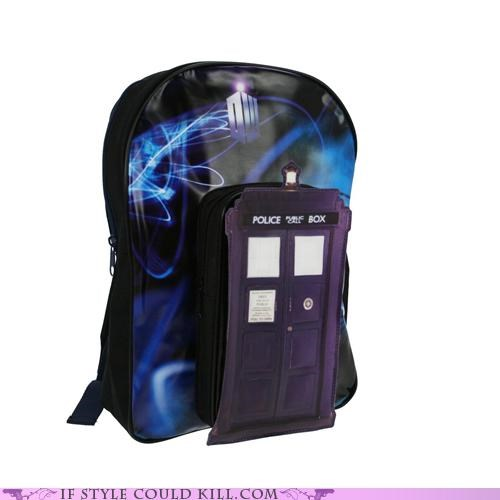 backpacks bag cool accessories doctor who tardis - 5407878400