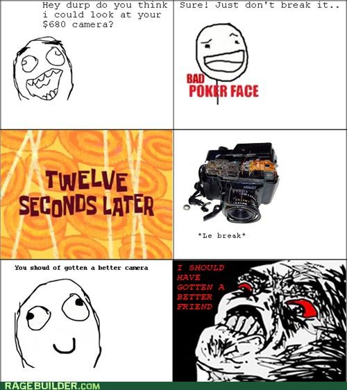 broken camera friend Rage Comics - 5407901952