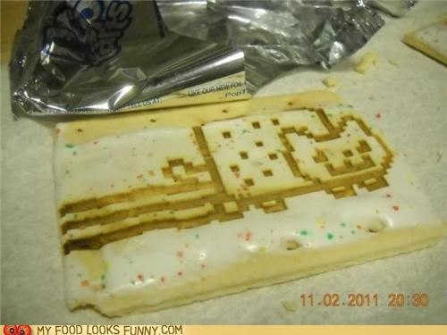 breakfast cat frosting meme Nyan Cat pop tart - 5407978752