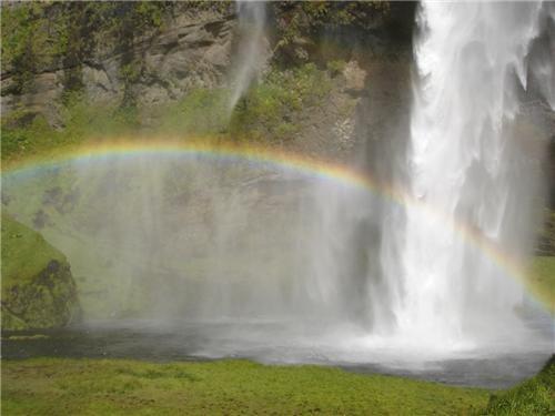 destination of the week europe first class ticket getaways Iceland rainbow scandanavia waterfall - 5408032256