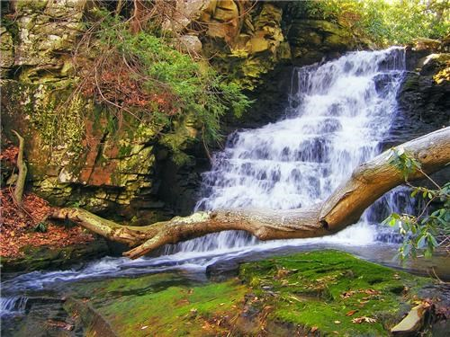 destination of the week first class ticket getaways north america pennsylvania united states waterfall - 5408037888