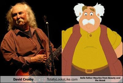 David Crosby Totally Looks Like Bells father Maurice from Beauty and the Beast