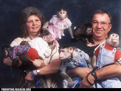 Awkward,creepy,family photo,family portrait,monkey,Parenting Fail,pets,wait what