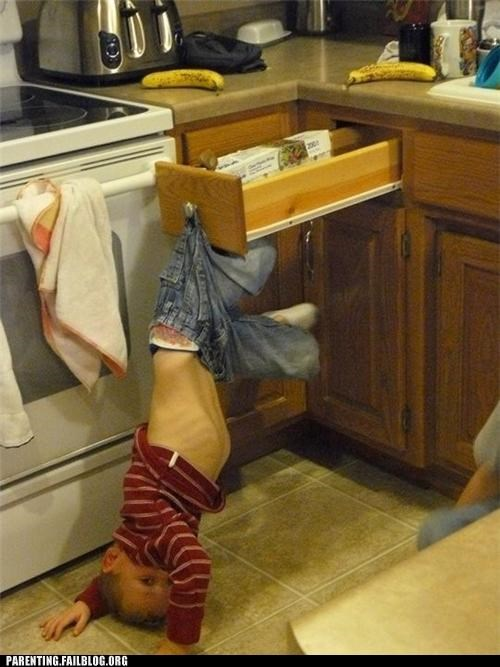 accident hook kid kitchen pants Parenting Fail whoops