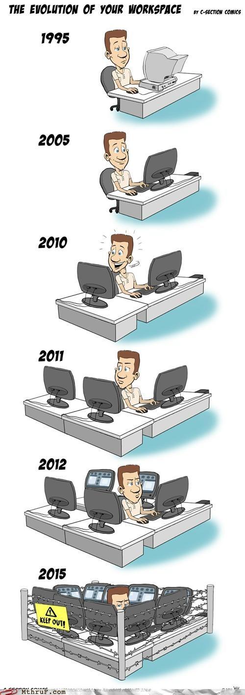 desk setup hellhole workspace evolution - 5408209920