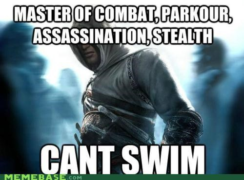 assassins creed,Memes,steal,stealth,swim,video games
