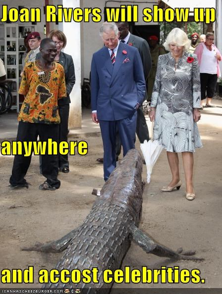 alligator Camilla celeb joan rivers prince charles Pundit Kitchen wtf