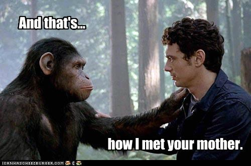 gross how i met your mother James Franco rise of the planet of the apes sex your mom - 5408503552