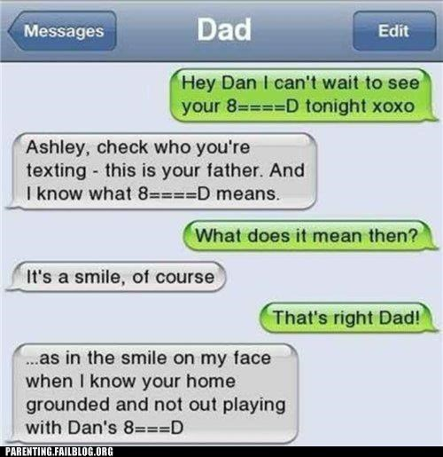 boyfriend,dad,fake,iphone,Parenting Fail,relationships,sexy times,text