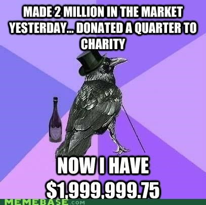 500 thousand,donation,million,puns,quarter,Rich Raven
