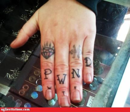 Internet phenomena knuckle tats words - 5408554752