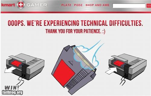 404 error kmart nerdgasm NES video game website - 5408561920