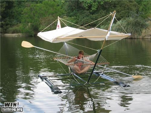 boat design DIY hammock paddle raft relax - 5408564224