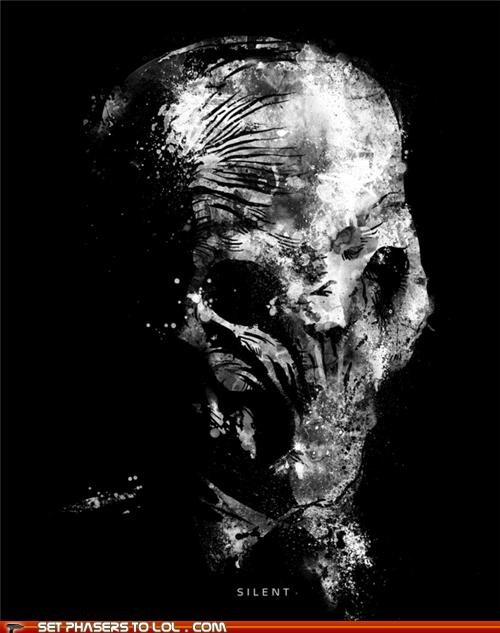 alien doctor who poster silent the silence - 5408647168