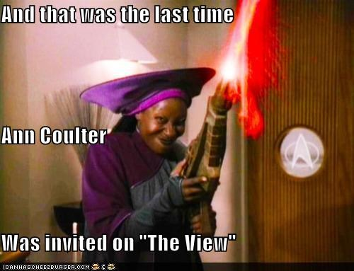 Ann Coulter bar Guinan Star Trek the view TNG whoopi goldberg - 5408726528