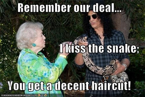 animals betty white deals hair haircuts slash snakes - 5408994048