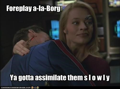 assimilate,borg,foreplay,jeri ryan,seven of nine,slowly,Star Trek