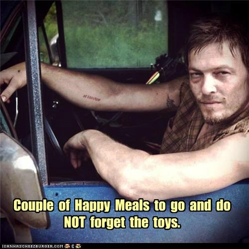 daryl dixon,happy meals,norman reedus,toys,The Walking Dead