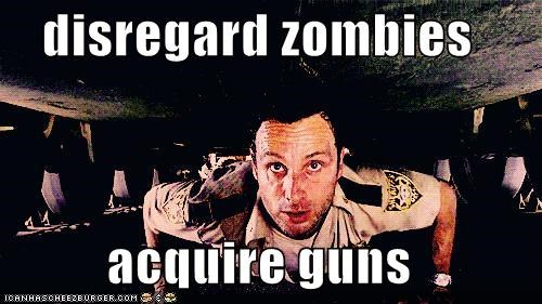 Andrew Lincoln guns Rick Grimes The Walking Dead zombie - 5409755392