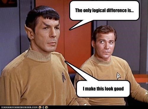 difference,Leonard Nimoy,logic,Shatnerday,Star Trek,William Shatner