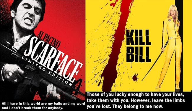 movie quotes and posters of some of the best lines in cinema history