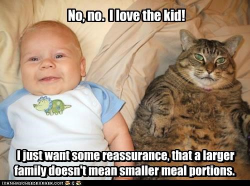 caption captioned cat family fat greedy kid larger love noms paranoid portions reassurance smaller - 5410433280