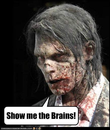 brains show me The Walking Dead zombie - 5410493696