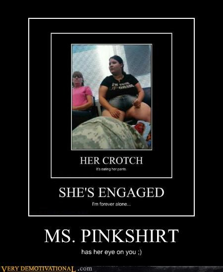 MS. PINKSHIRT has her eye on you ;)