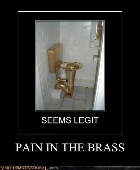 brass hilarious toilet tuba wtf - 5410636288