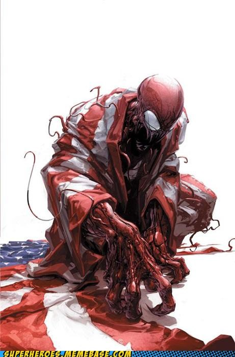 america,Awesome Art,best of week,carnage,flag,new comics,Terrifying
