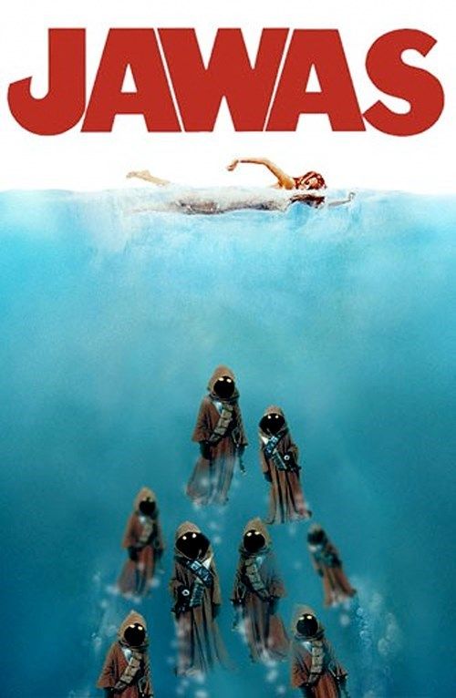 Fan Art jawas jaws movies posters star wars - 5410888192