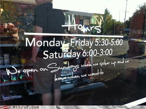 alcohol bar drinking hours open sign sober up