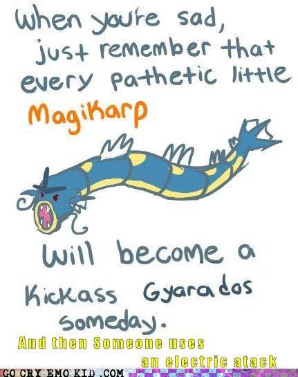 effective emolulz gyarados magicarp Pokémon Sad - 5411058432