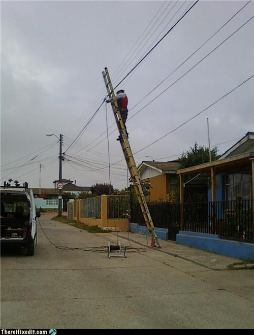 ladders,Professional At Work,safety first