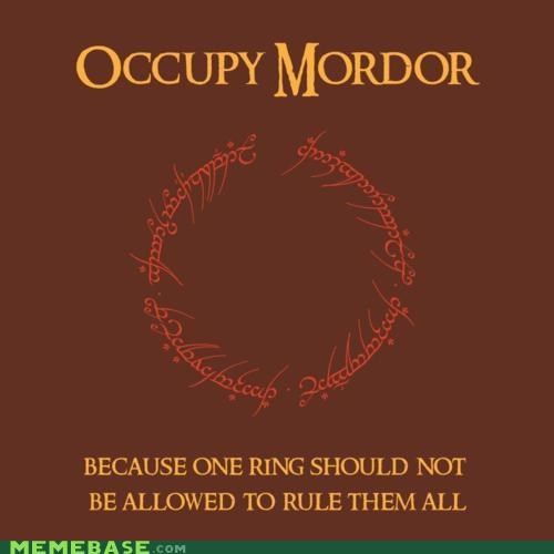 best of week,books,Lord of the Rings,mordor,movies,Occupy Wall Street,rule them all,tolkein
