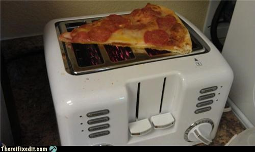 cooking kludge,dual use,pizza,toaster