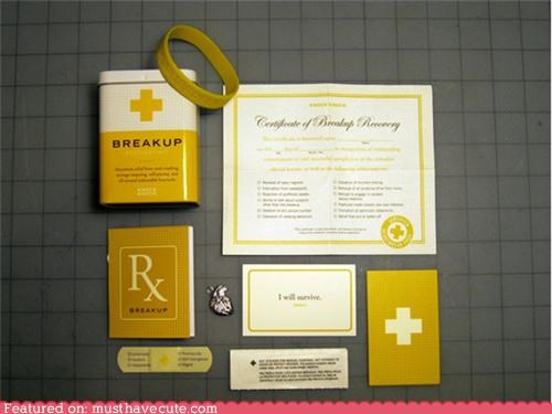 bandages,breakup,certificate,get over it,kit