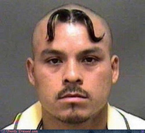 bad hair doing it wrong Hall of Fame mug shot mustache